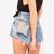 Jett Vintage Frayed Studded Shorts | RUNWAYDREAMZ