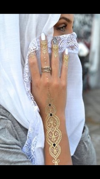 jewels jewelry fashion gold gold tattoos temporary tattoo cute elegant bollywood birthday dress
