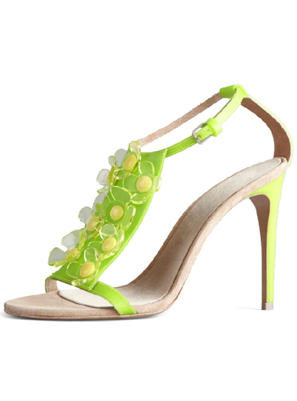 Shoes floral fish fish head sandals green sexy for Fish head shoes
