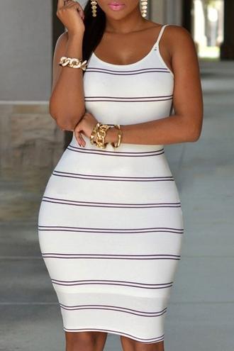 dress zaful white dress bandage dress white bandage dress striped white dress