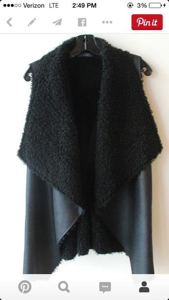 jacket black vest
