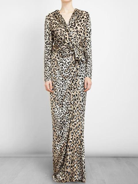 Lanvin Leopard Jacquard Gown - Luisa World - Farfetch.com