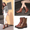 Fashion genuine leather middle heel martin boots for women_82.58