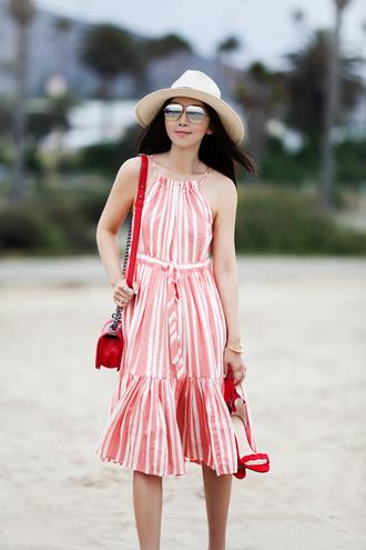 fit fab fun mom blogger dress swimwear top shoes sunglasses bag hat jewels