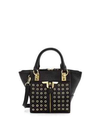 Danielle Nicole Alexa Mini Grommet Crossbody Bag, Black