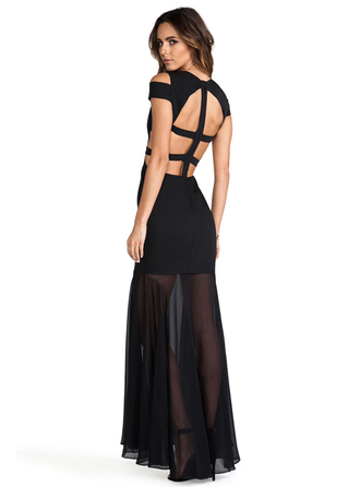 dress bqueen fashion girl sexy chic party clubwear evening dress black deep v perspective