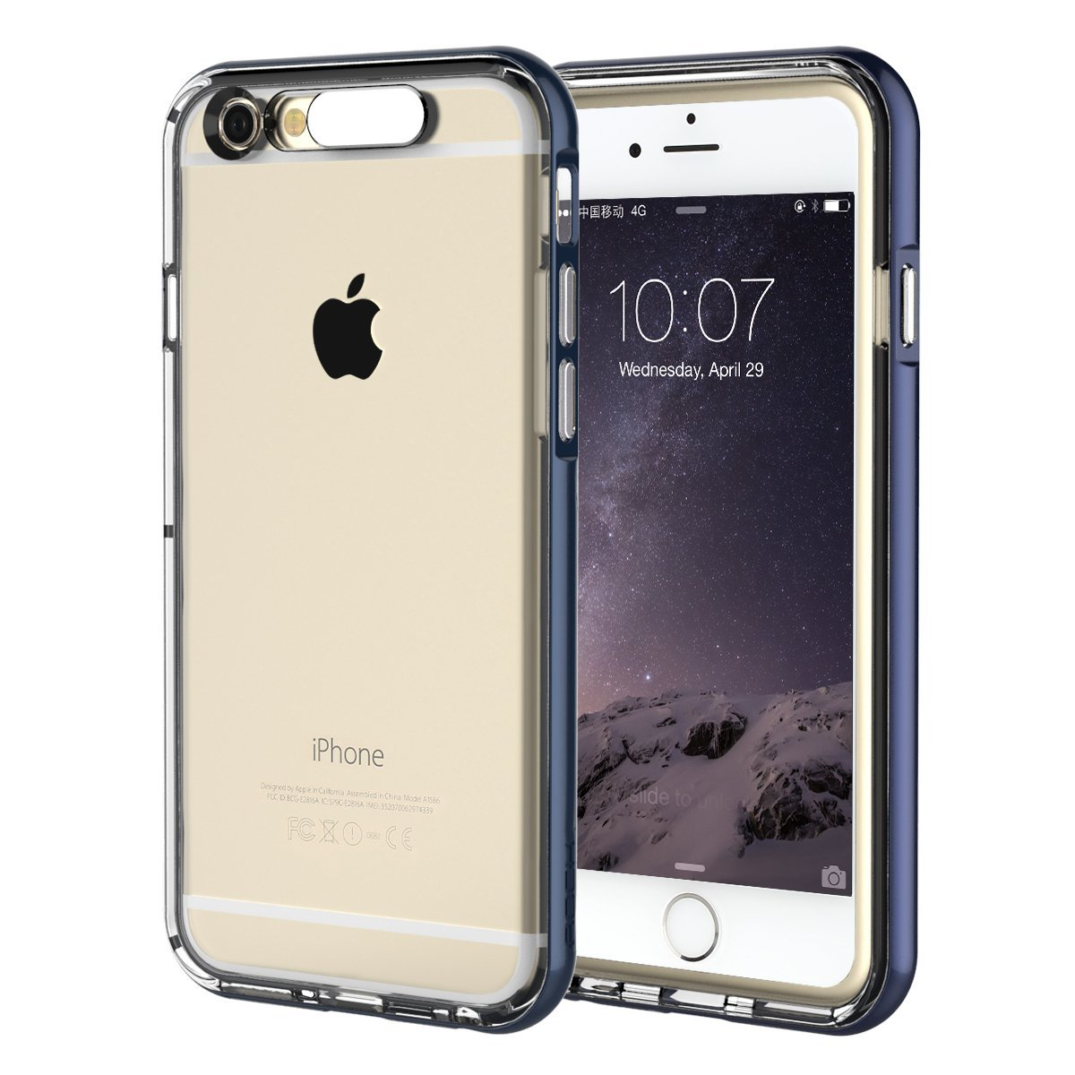 uk availability 699ce 67d32 Amazon.com: iPhone 6 Plus Case, Rock® Soft TPU Skin Shell Transparent LED  Flash Case for iPhone 6 5.5