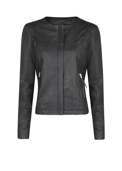 MANGO - CLOTHING - Leather bomber jacket