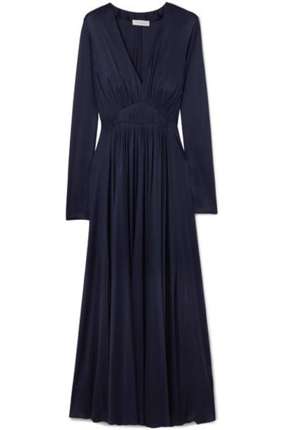 Gabriela Hearst dress midi dress midi navy silk