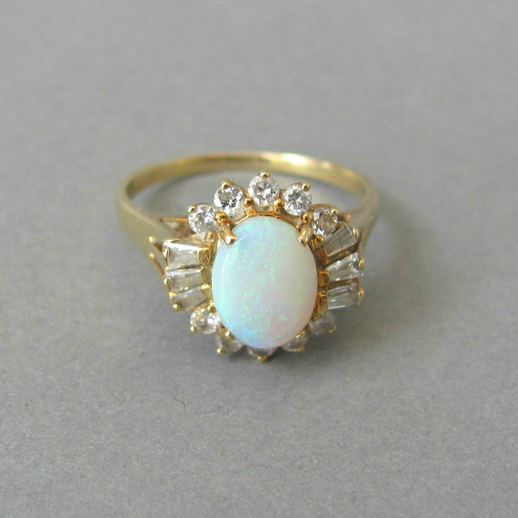 THE PERFECT amazing Australian white jelly opal by EmpireOfGold