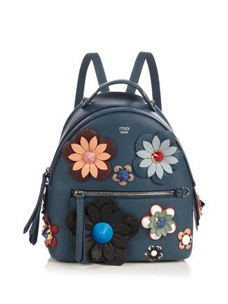 mini backpack blue bag