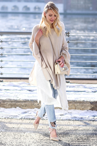 ohh couture blogger blouse jeans shoes bag jewels