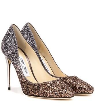 glitter 100 pumps metallic shoes