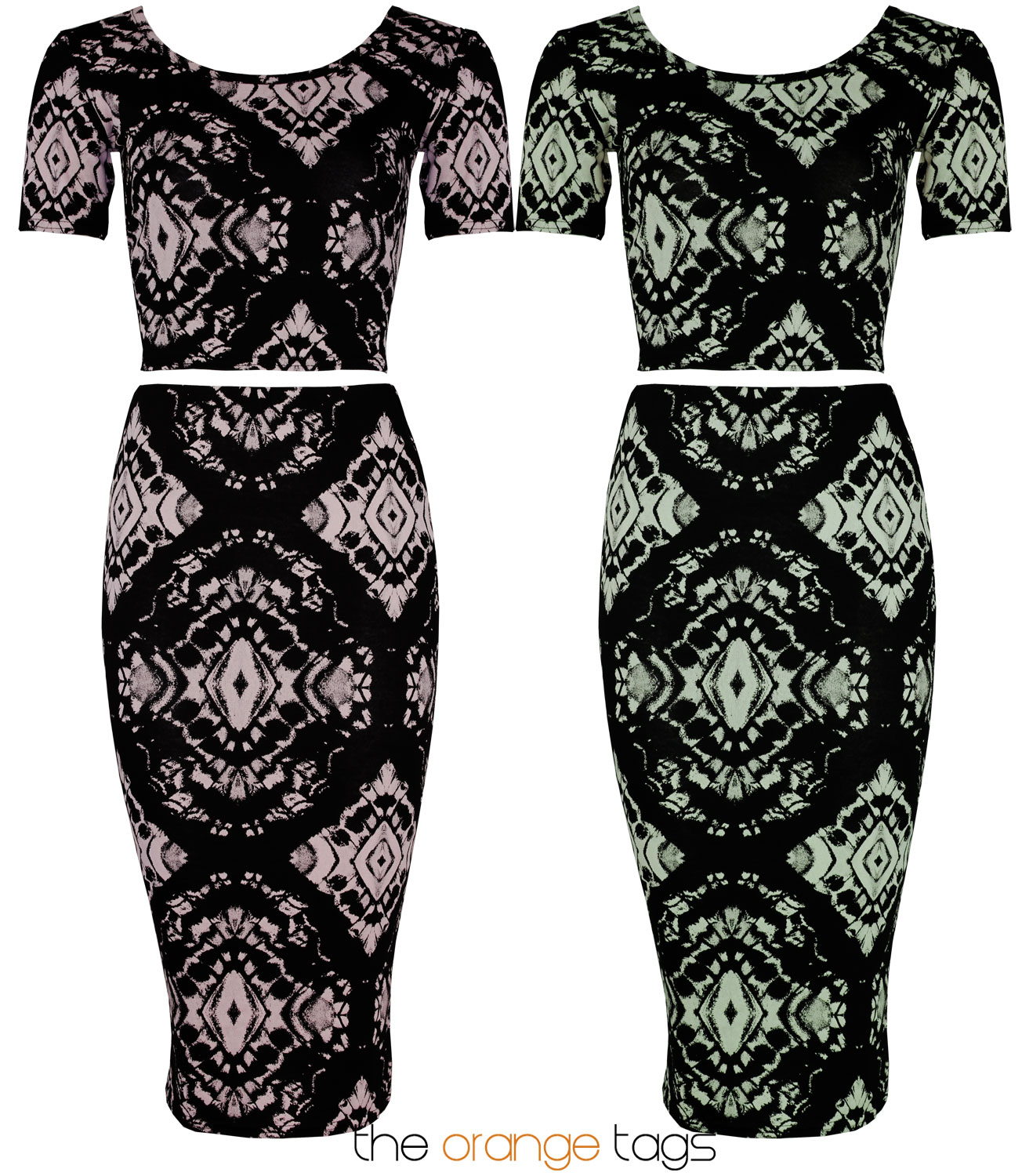LADIES PRINTED TWO PIECE SKIRT SUIT BODYCON SKIRT CROP TOP WOMENS MIDI DRESS | eBay