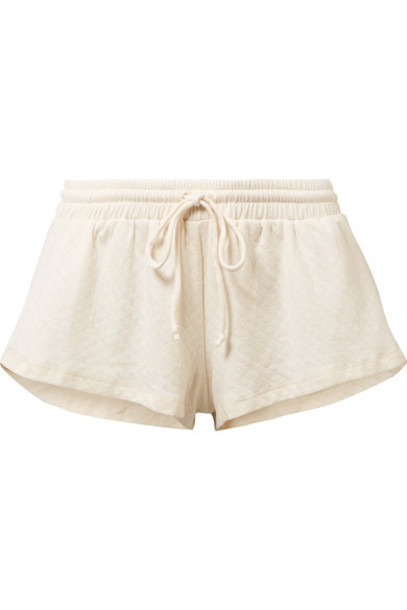 Eberjey shorts quilted cotton cream