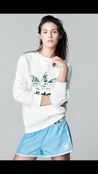 shirt adidas sweater white