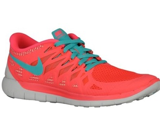 shoes nike coral pink red blue nike running shoes nike shoes nike free run running shoes