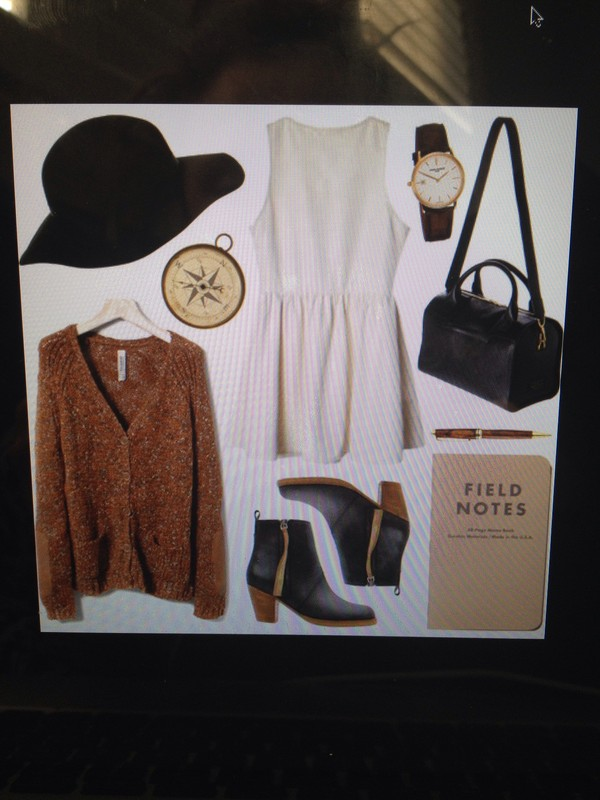 shoes bag sweater hat dress