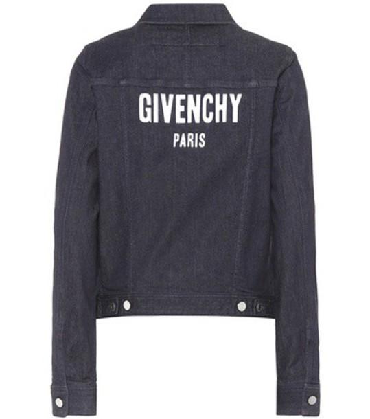 Givenchy jacket denim jacket denim blue