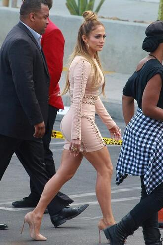 dress nude dress nude pumps jennifer lopez bodycon