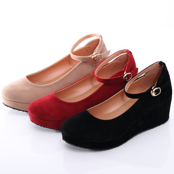 shoes cosplay faux fur school girl platform shoes