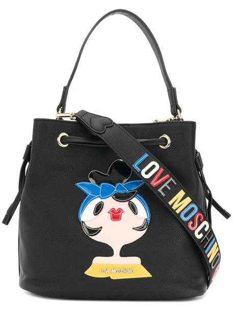 LOVE MOSCHINO women bag bucket bag leather black