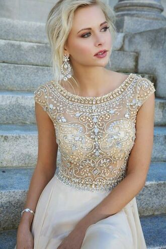 sequin prom dress lace dress pll ice ball