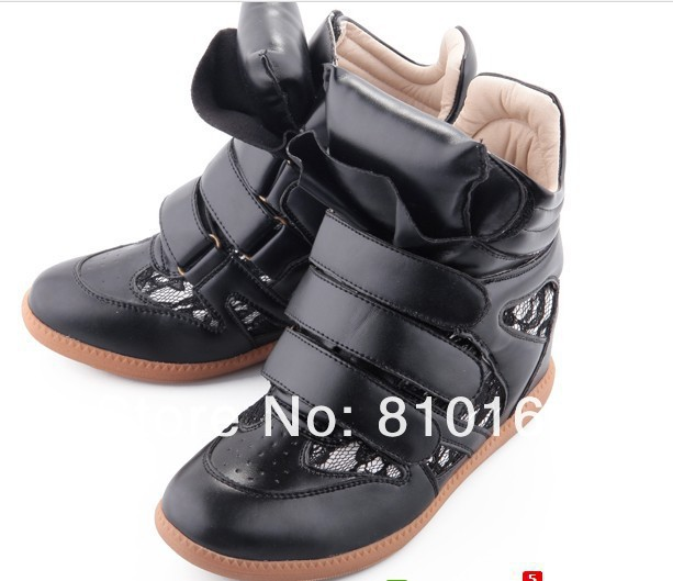 Drop Free Shipping 2013 Hot Isabel Marant Wedges Sneakers Women Shoes Height Increasing Fashion Boots  Color match-in Boots from Shoes on Aliexpress.com
