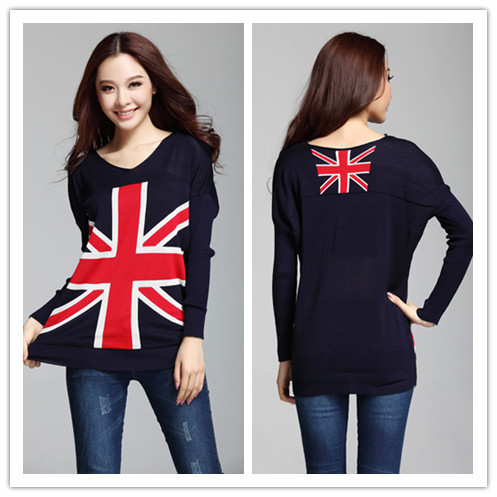 City Knitting Fashion Knit pullovers Women Union British UK v neck winter warm Knitwear Flag plus size sweaters United Kingdom-in Pullovers from Apparel & Accessories on Aliexpress.com