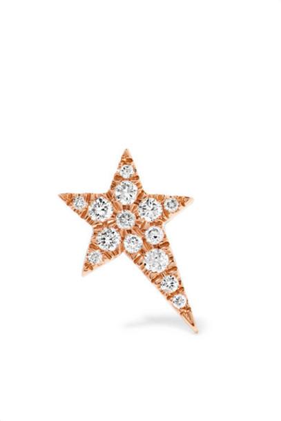 Diane Kordas - Star 18-karat Rose Gold Diamond Earring