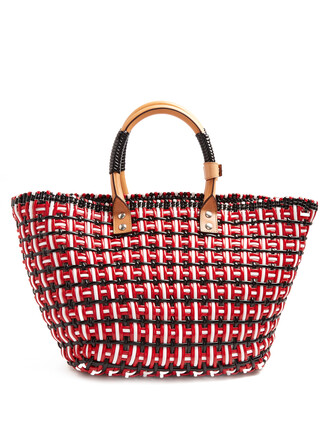 braided red bag