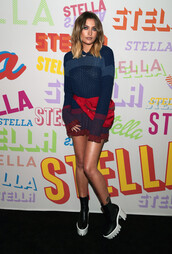 sweater,ankle boots,paris jackson,sweater dress,shoes,platform shoes