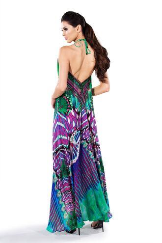 dress green parides print purple bikiniluxe