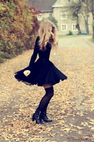 long sleeve dress winter dress dress black sexy long sleeves fall outfits black dress