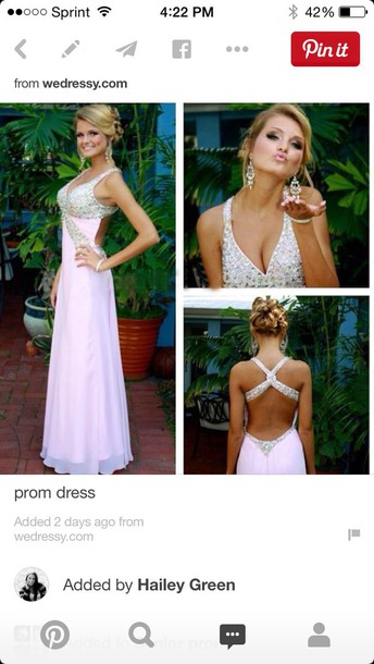 dress pink dress prom dress open back prom dress