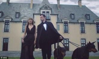 taylor swift black dress evening dress
