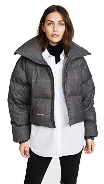 M I S B H V jacket down jacket plaid wool