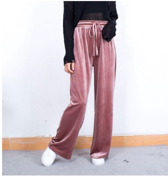 pants girly sweatpants joggers velvet joggers pants