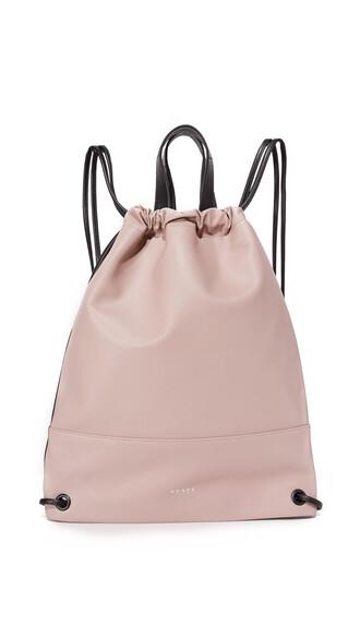 drawstring backpack black bag