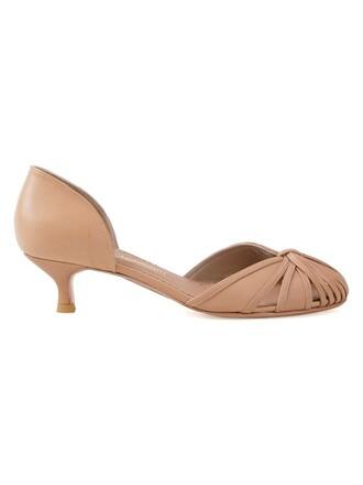 heel women pumps brown shoes
