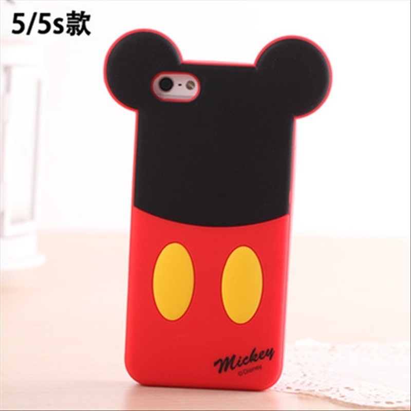 New hot sale cartoon monster sulley mickey minnie mouse for apple iphone 5 5s shell phone silicone rubber back covers phone case