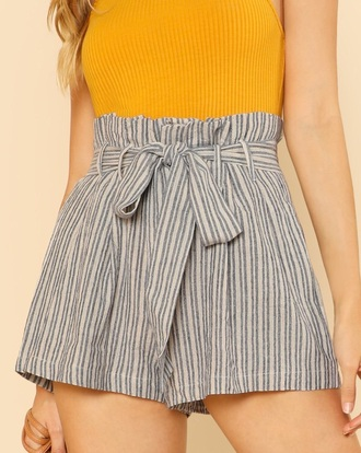 shorts girly high waisted high waisted shorts stripes
