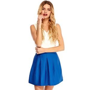 Sienna skater skirt in blue