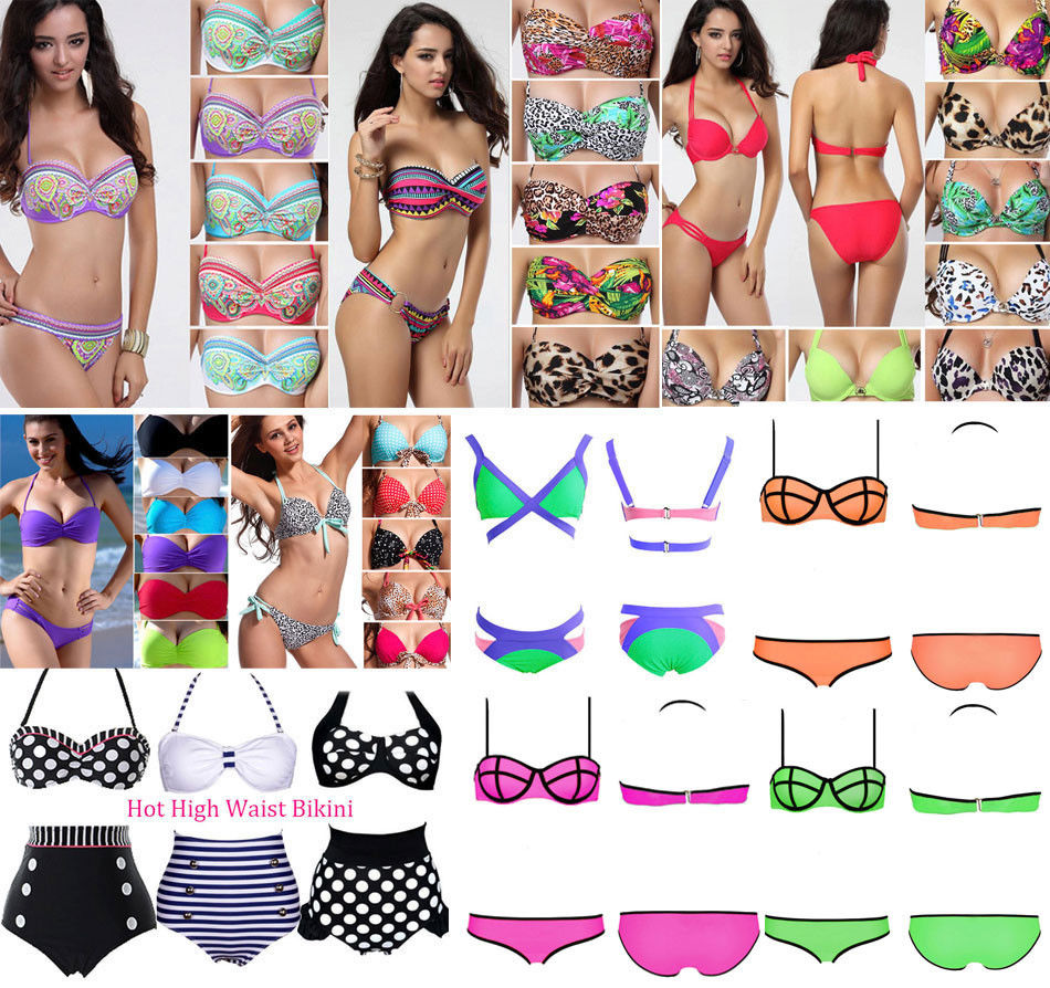 Hot Sexy Women Top Bikini Push Up Padded Swimsuit Bathing Suit Swimwear Size SML | eBay
