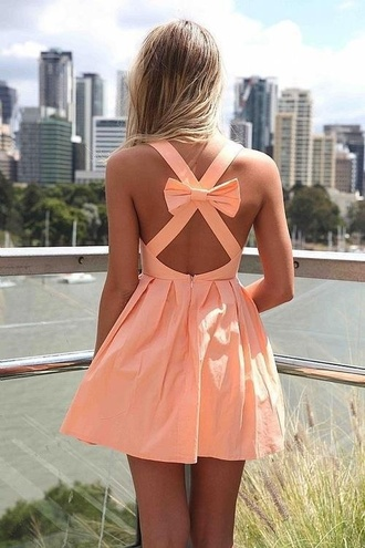 dress peach ribbon peach dress cute light pink bow summer coral women's online fashion apricot cross back bow dress cute bow back dress mini dress australian brand sexy bow back dress womens latest trend openback pink girl short peach bow dress bow dress lovely beautiful colorful sun cute dress nail polish pink dress bowknot criss cross top bottoms skirt clothes outfit sexy dress summer dress girly bandage dress pretty party dress short dress cute outfits summer outfits sleeveless style backless dress