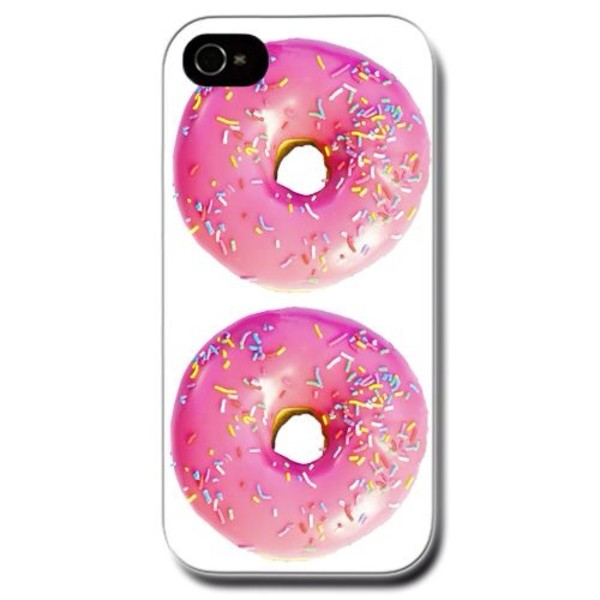 jewels donut donut pink iphone case iphone cover iphone 4 case iphone 4 case white