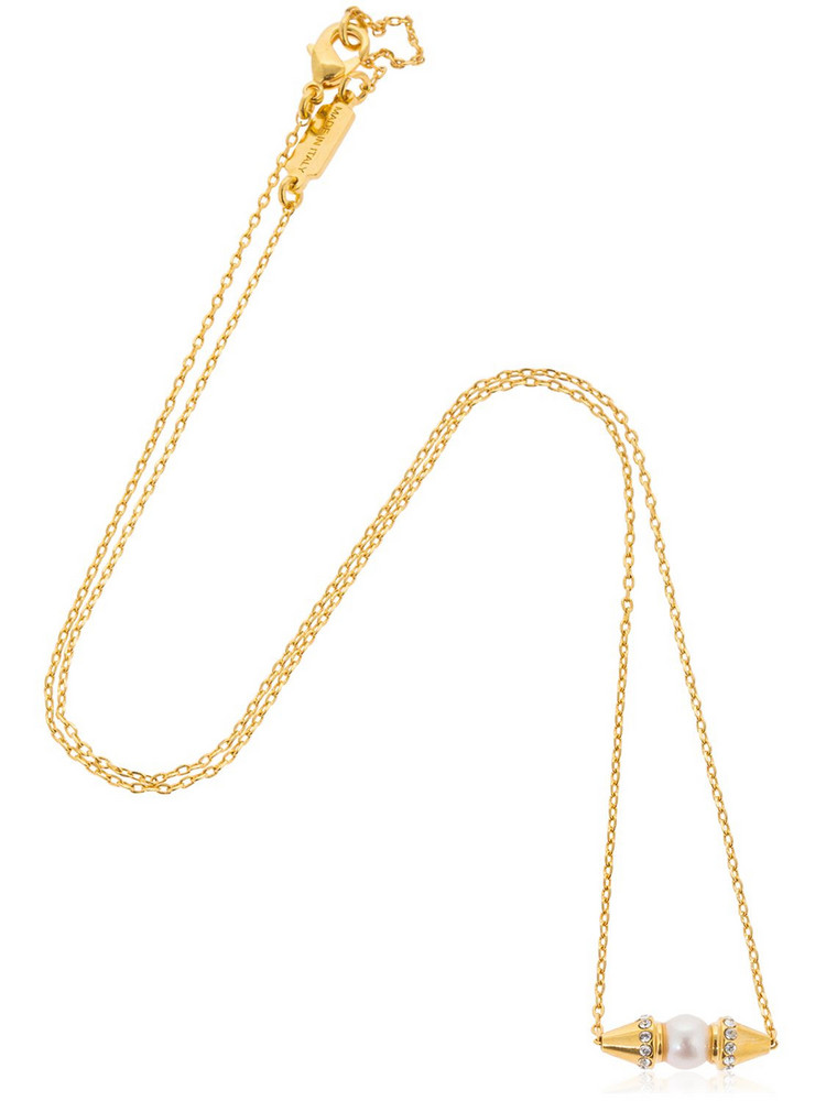 VITA FEDE Renata Pearl Necklace in gold
