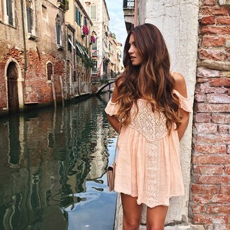 dress tunic short baby pink pink dress white dress boho dress nastygal coral boho revolve clothing italy venice summer dress cute dress hipster pink off the shoulder