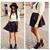 BZ Punk Ladies Womens Black Spike Studded Vintage Leather Skirt Dress Shorts TEE | eBay