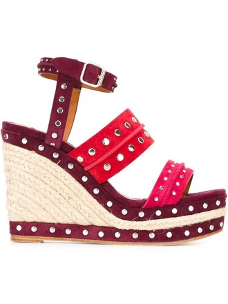 sandals espadrilles wedge sandals purple pink shoes
